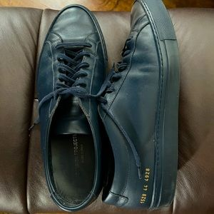 Men's Common Projects Blue Leather Sneakers 44 EU